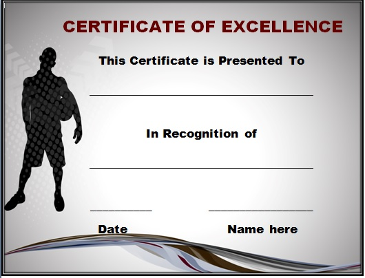 Football Certificate of Excellence