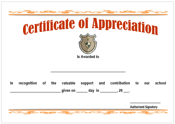 Teacher of the Month Certificate Template