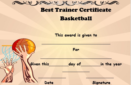 basketball trainer certificate