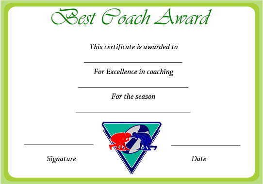 Rugby Awards Certificates Templates Free