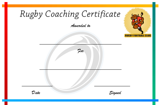 Rugby Coaching Certificate