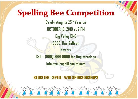 Spelling Bee Invitation Template 14