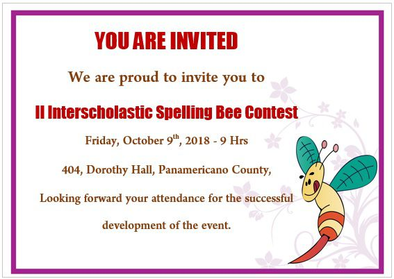 Spelling Bee Invitation Template 4