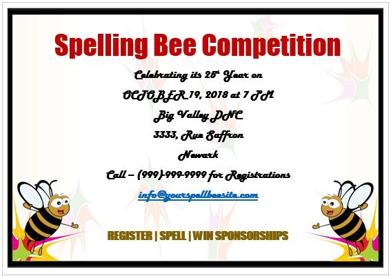 Spelling Bee Invitation Template 6