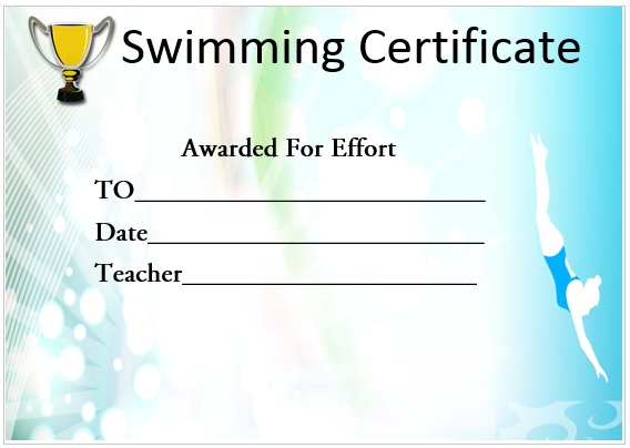 Swimming Effort Certificate