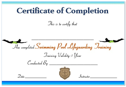 Swimming Pool Lifeguard Certificate