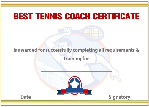 Tennis coaching certificate