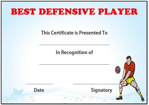 Volleyball best defensive player award