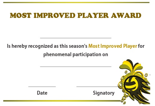 Volleyball most improved player award