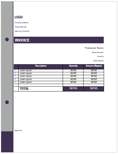 Freelance Invoice Template 10