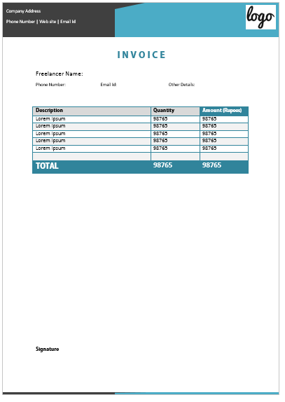 Freelance Invoice Template 15