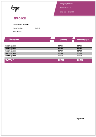 Freelance Invoice Template 18