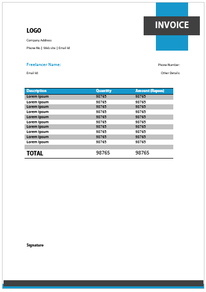 Freelance Invoice Template 5