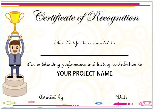 Certificate Of Recognition For Outstanding Employee