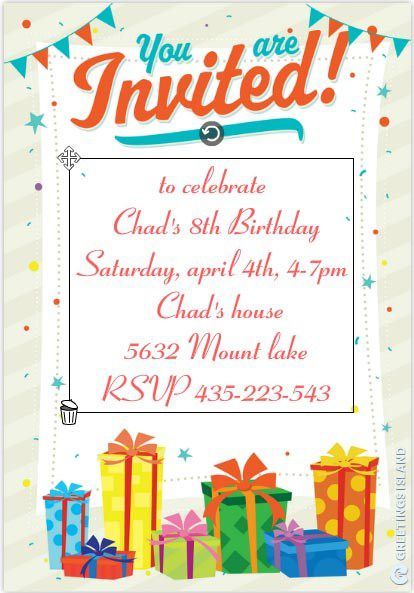 birthday invitation template 4