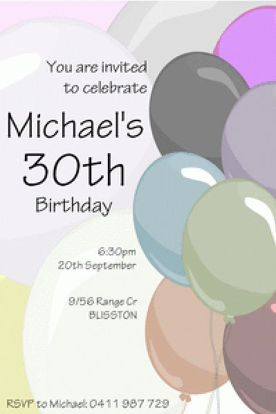 birthday invitation template 27
