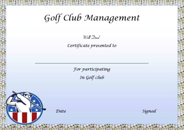 Certificate In Golf Club Management