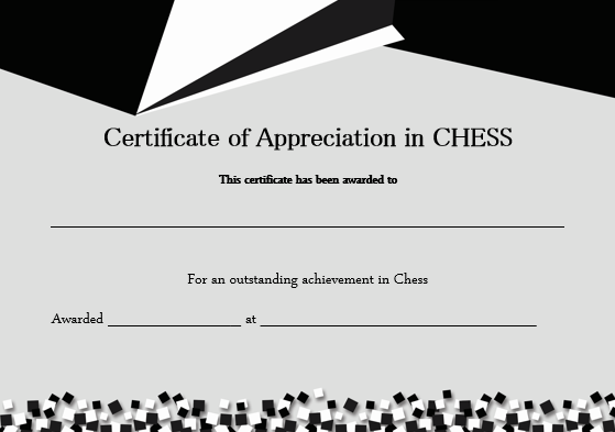 Chess Award Certificate Template