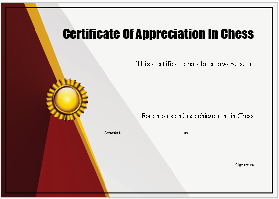 Chess Share Certificate
