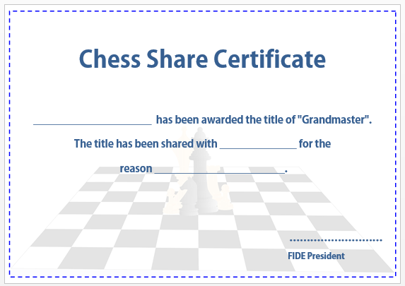 Chess Share Certificate 2