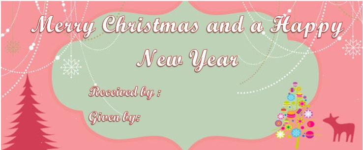Christmas and New year gift certificate