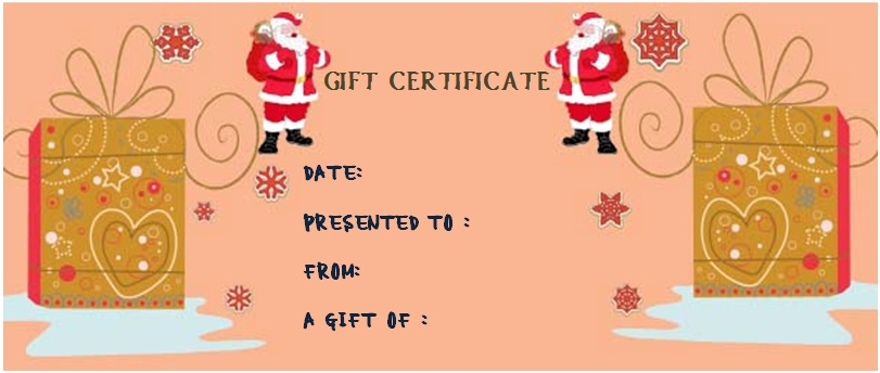 Christmas gift certificate envelope template