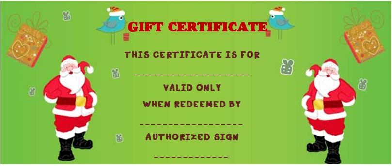 Christmas gift voucher template free