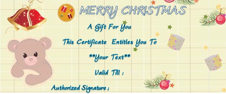 Christmas golf gift certificate template