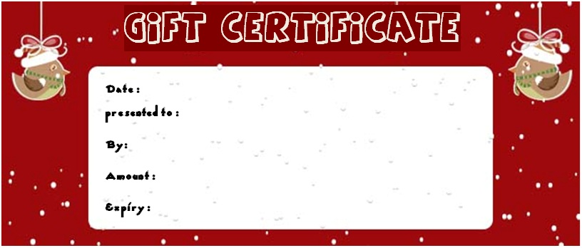 Christmas massage gift certificate template