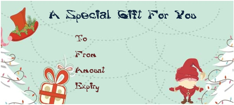 Christmas massage gift certificate templates