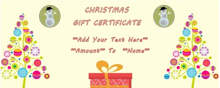 Christmas money gift certificate template