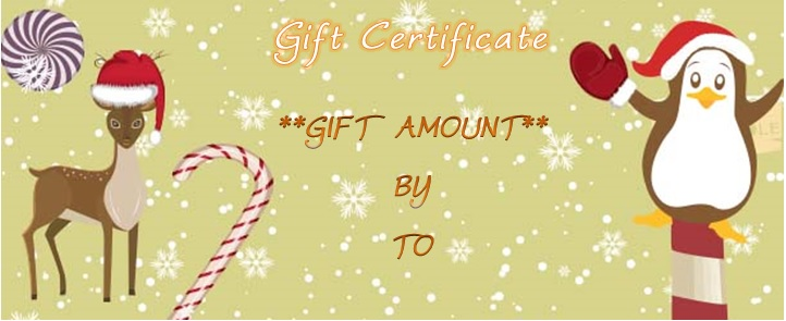 Generic christmas gifts certificate