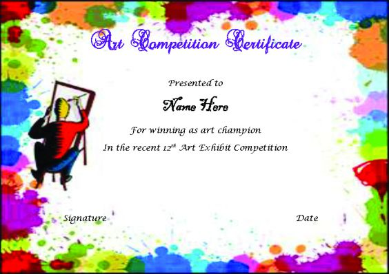 art_contest_winner_certificate_template