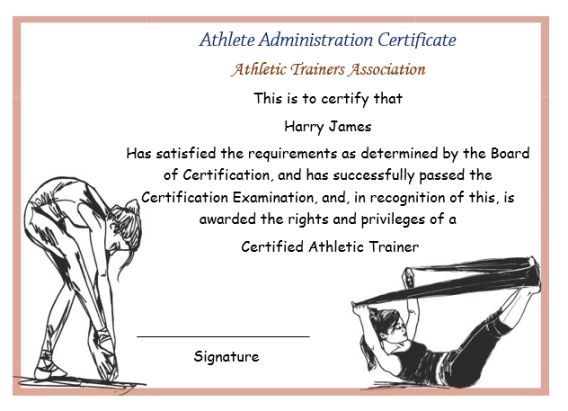 Athletic Administration Certificate