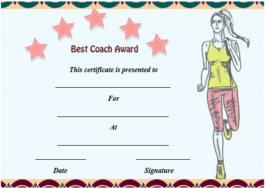 Athletic Coaching Certificate