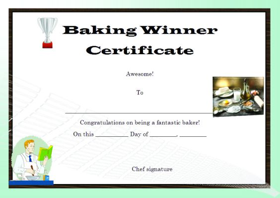 baking_contest_winner_certificate_template