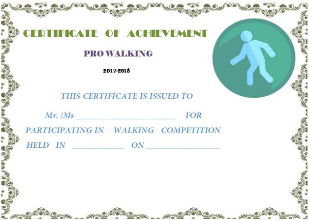 certificate_for_walking_club