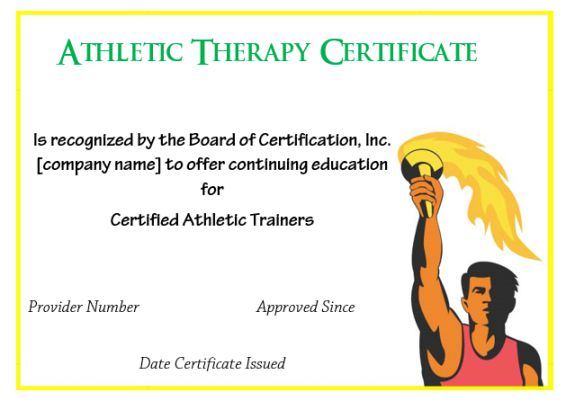 Certificate In Athletic Therapy