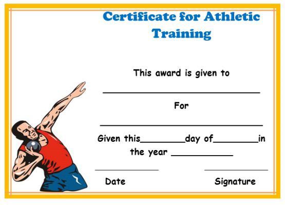 Certificate In Athletic Training Ust