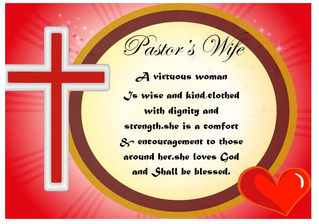 Certificate Of Appreciation For A Pastor's Wife