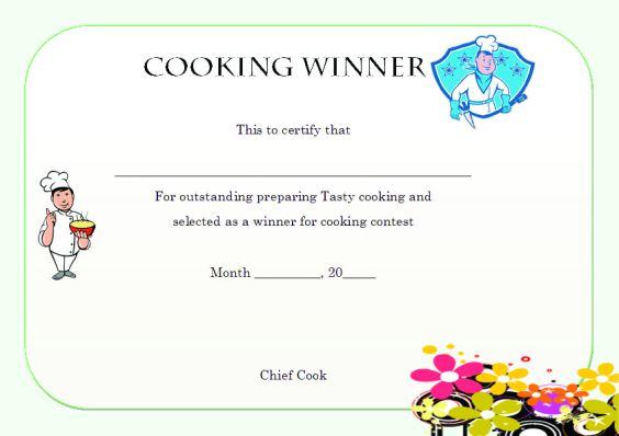 cooking_winner_certificate_template