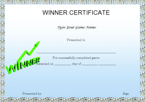game_winner_certificate_template
