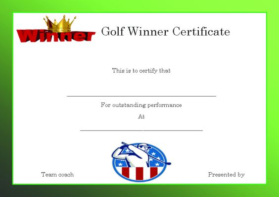 golf_winner_certificate_template