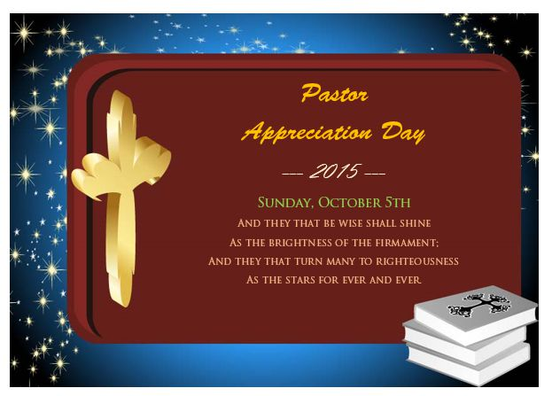 Pastor Appreciation Day Certificate
