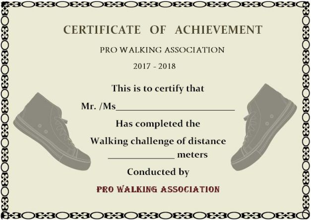 printable walking certificate_1