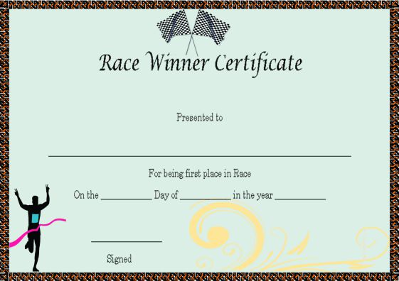 race_winner_certificate_template