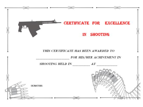 shooting_award_certificate_templates