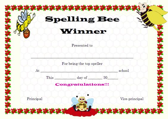 spelling_bee_winner_certificate_template