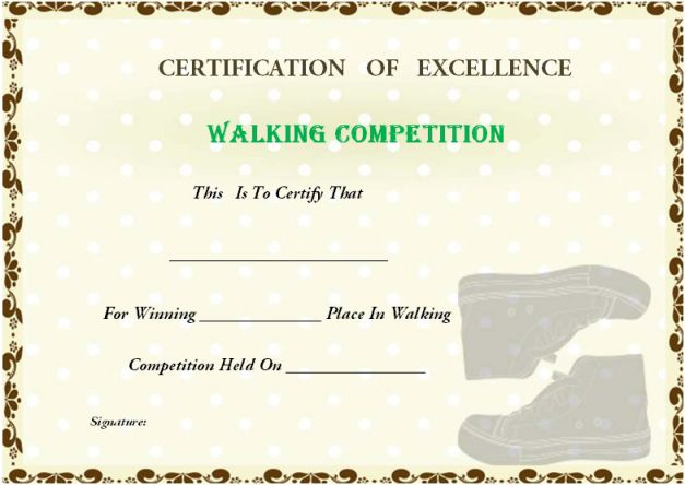walking_certificate_template