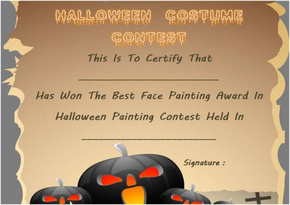 Best Face Painting Award Template